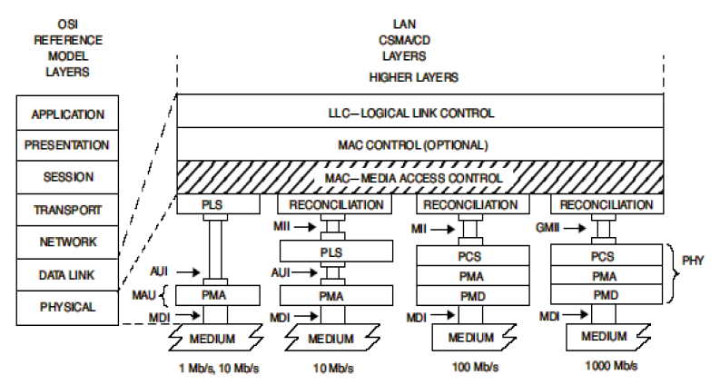 Ethernet Layer Model
